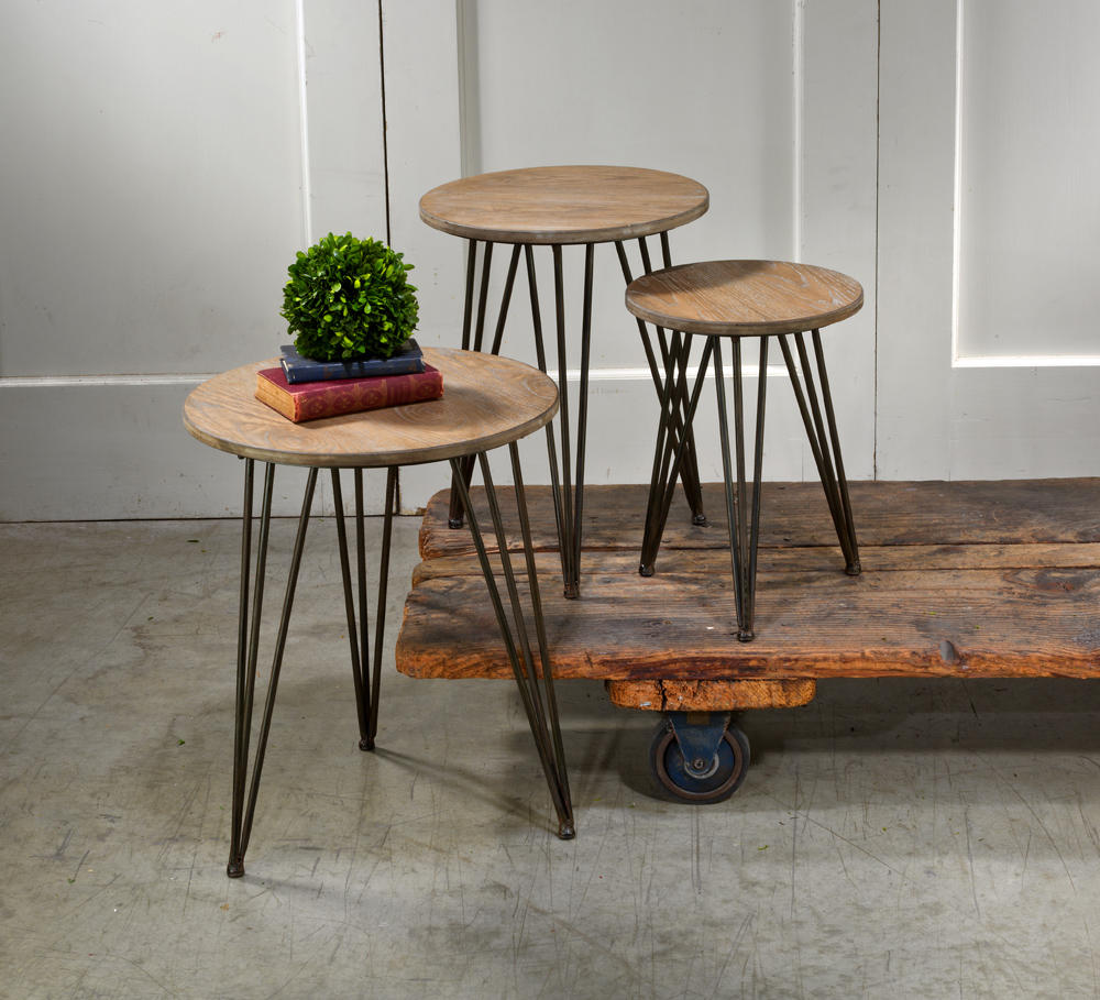Set/3 Tripod Tables  (Tables & Furniture)