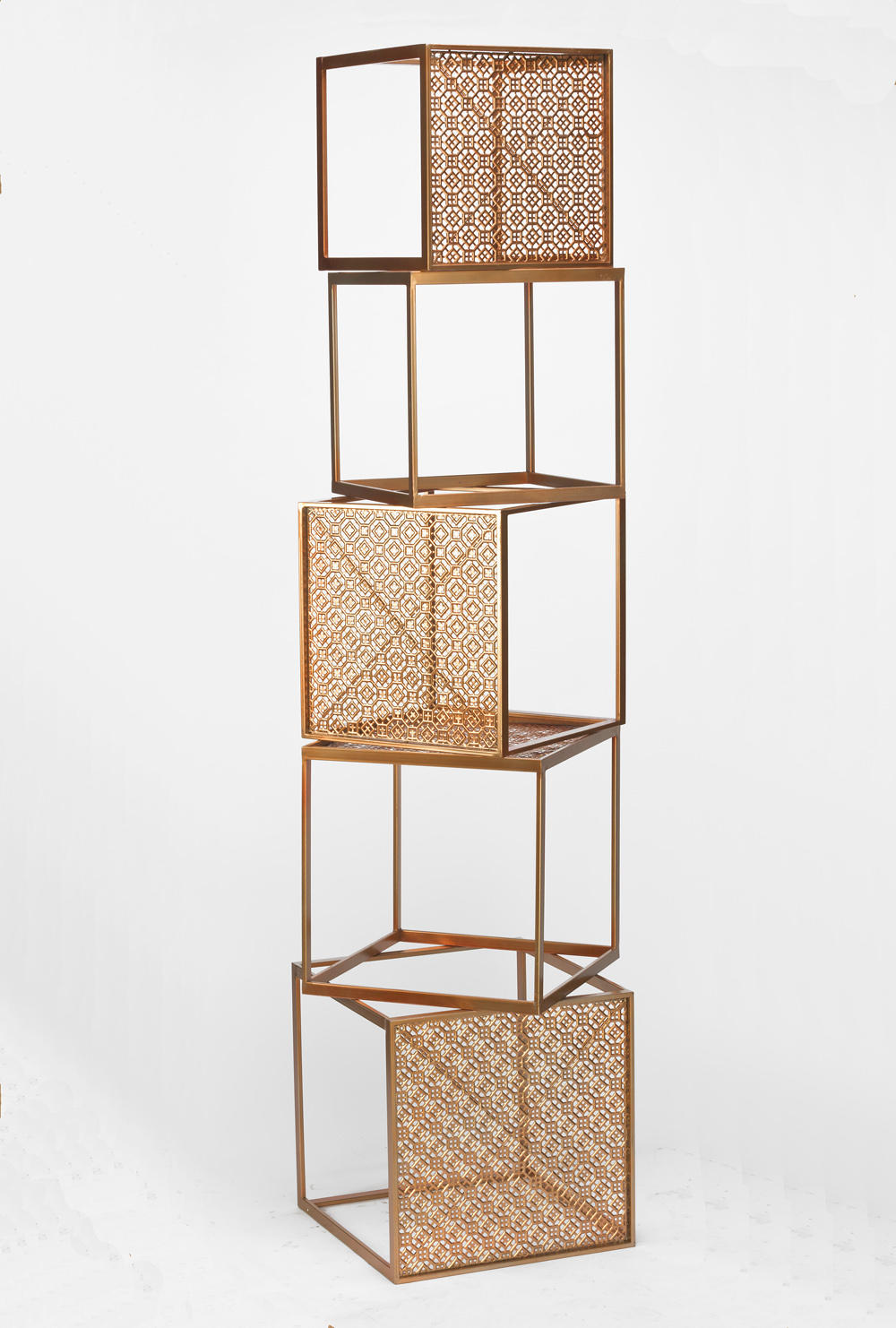 Set/5 Stackable Rose Gold Cubes (Risers)
