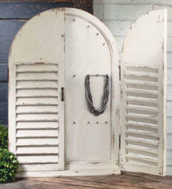 Shabby Shutter Jewelry Display