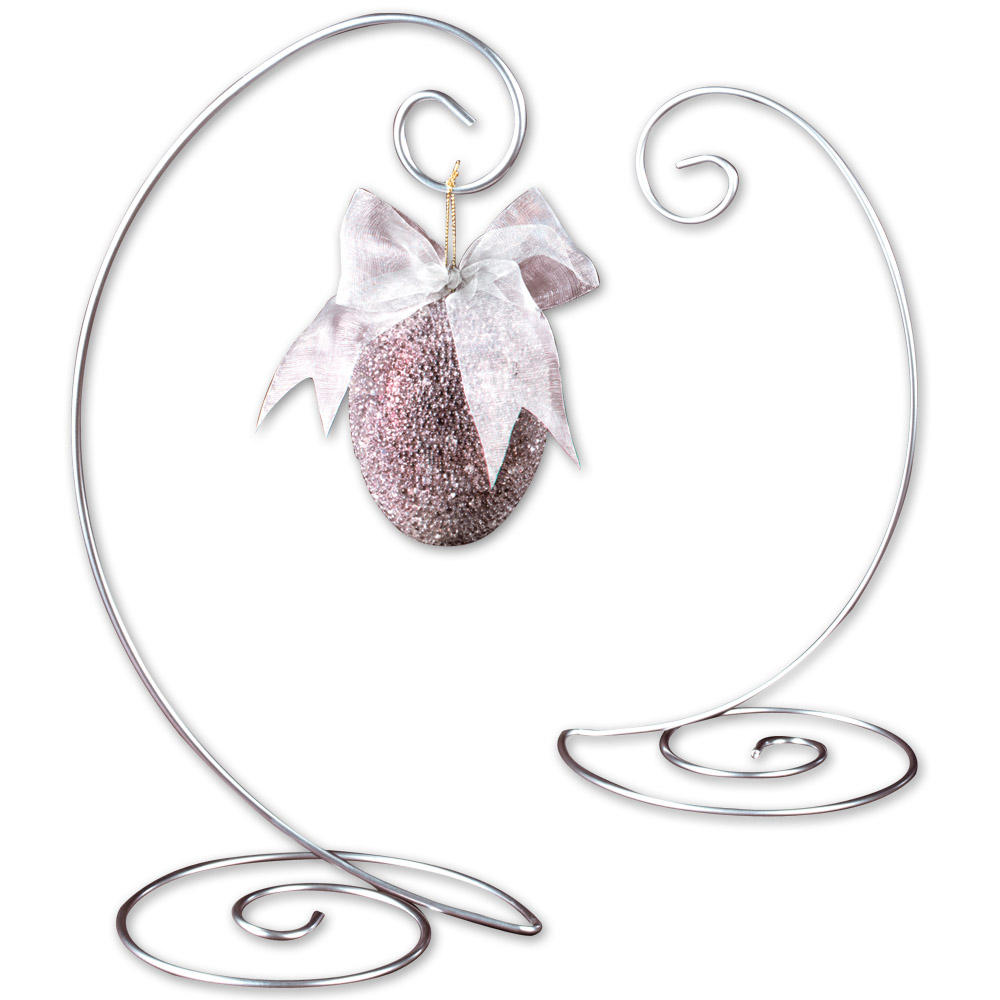 Silver Spiral Ornament Tree (Ornament Stands)