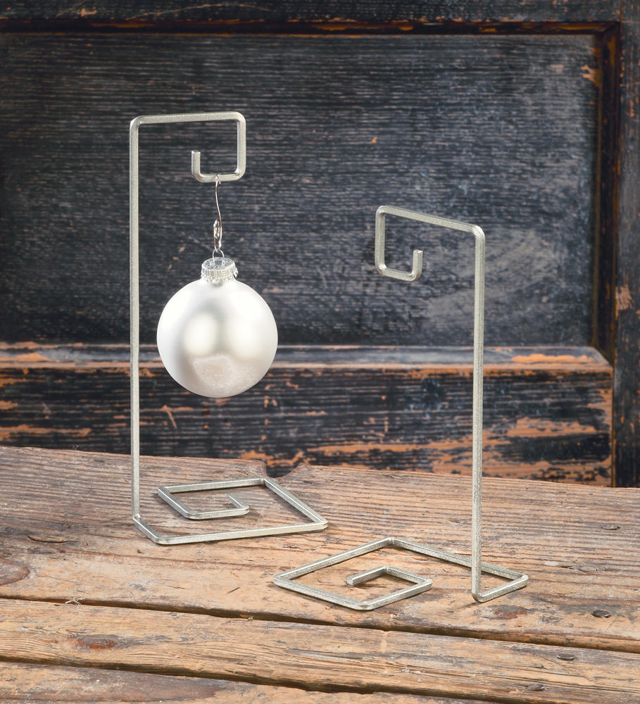 Silver Square Swirl Ornament Tree