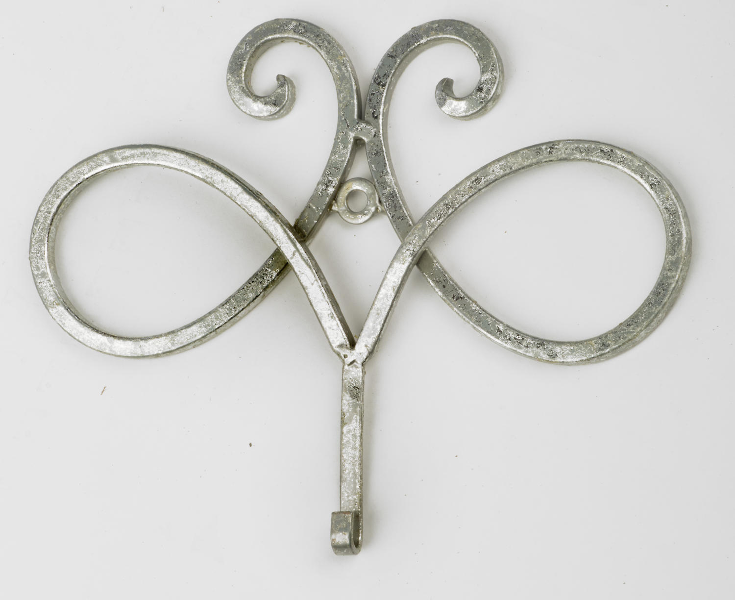 Silver Swirl Frame Hook   (Wall Decor)