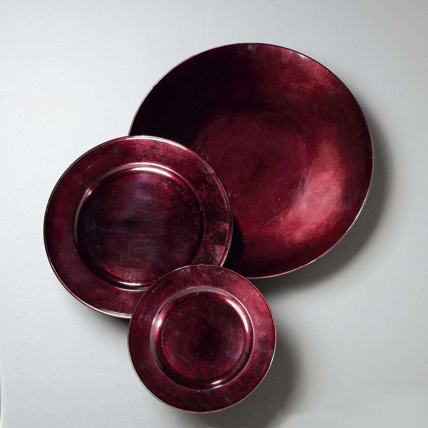 Sofia Deep Plum Decorative Plates (Home Accents)