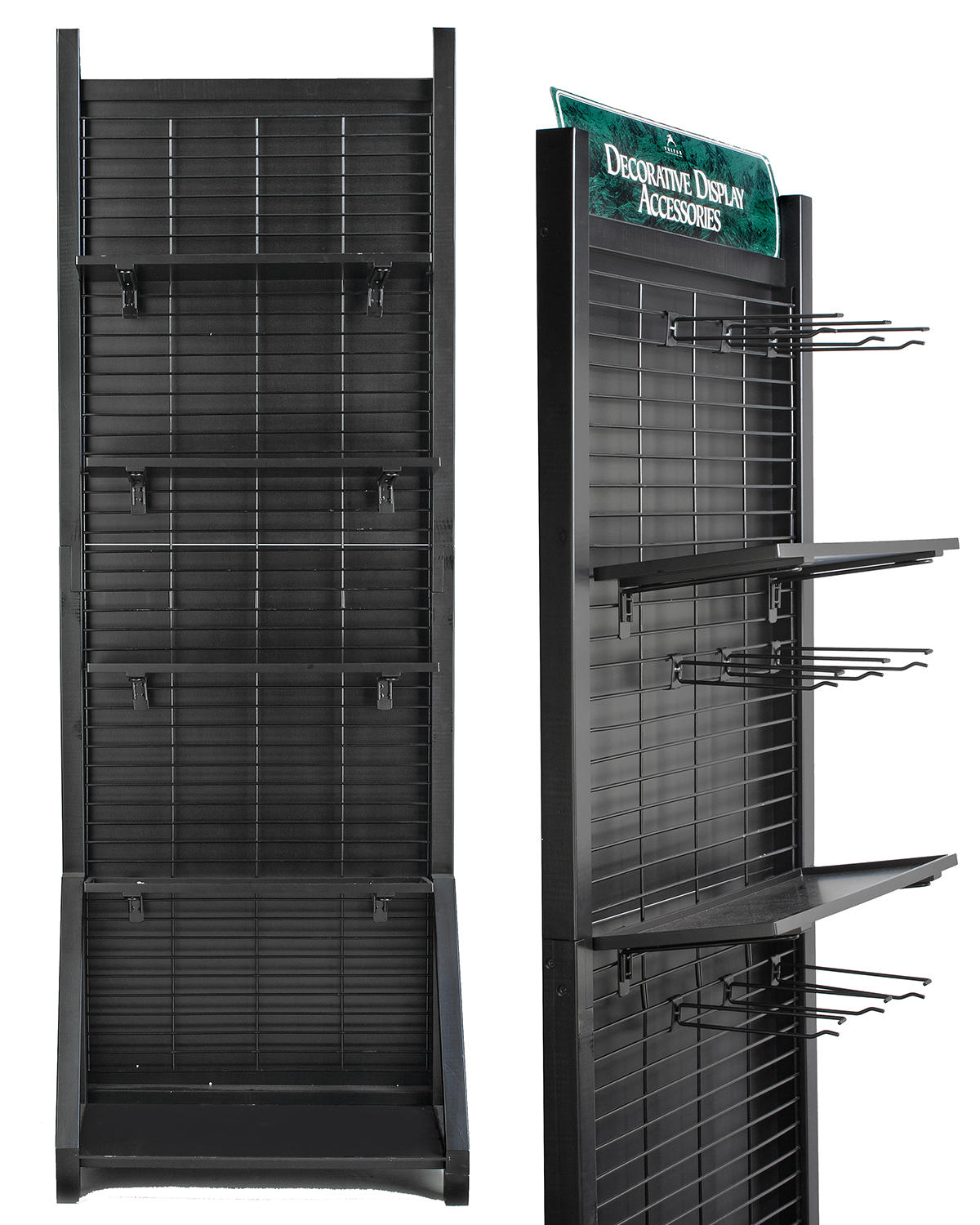 Tall Black Decorator Display Center (Point of Purchase)
