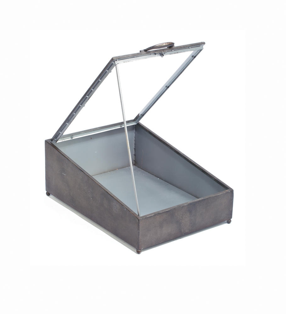 Tin Display Case with Glass Lid (Home Accents)