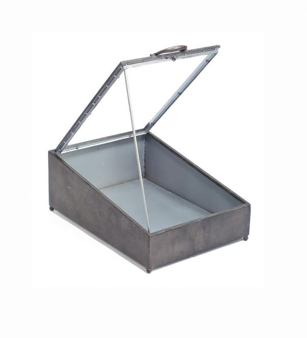 Tin Display Case with Glass Lid
