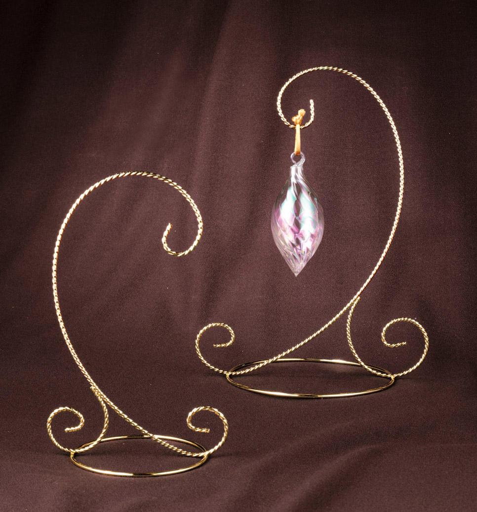 Brass ornament stand - Twisted Brass Scroll Ornament Stand Ornament Stands