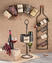 Vintage Wine Bottle Displays  (Wine Accessories)