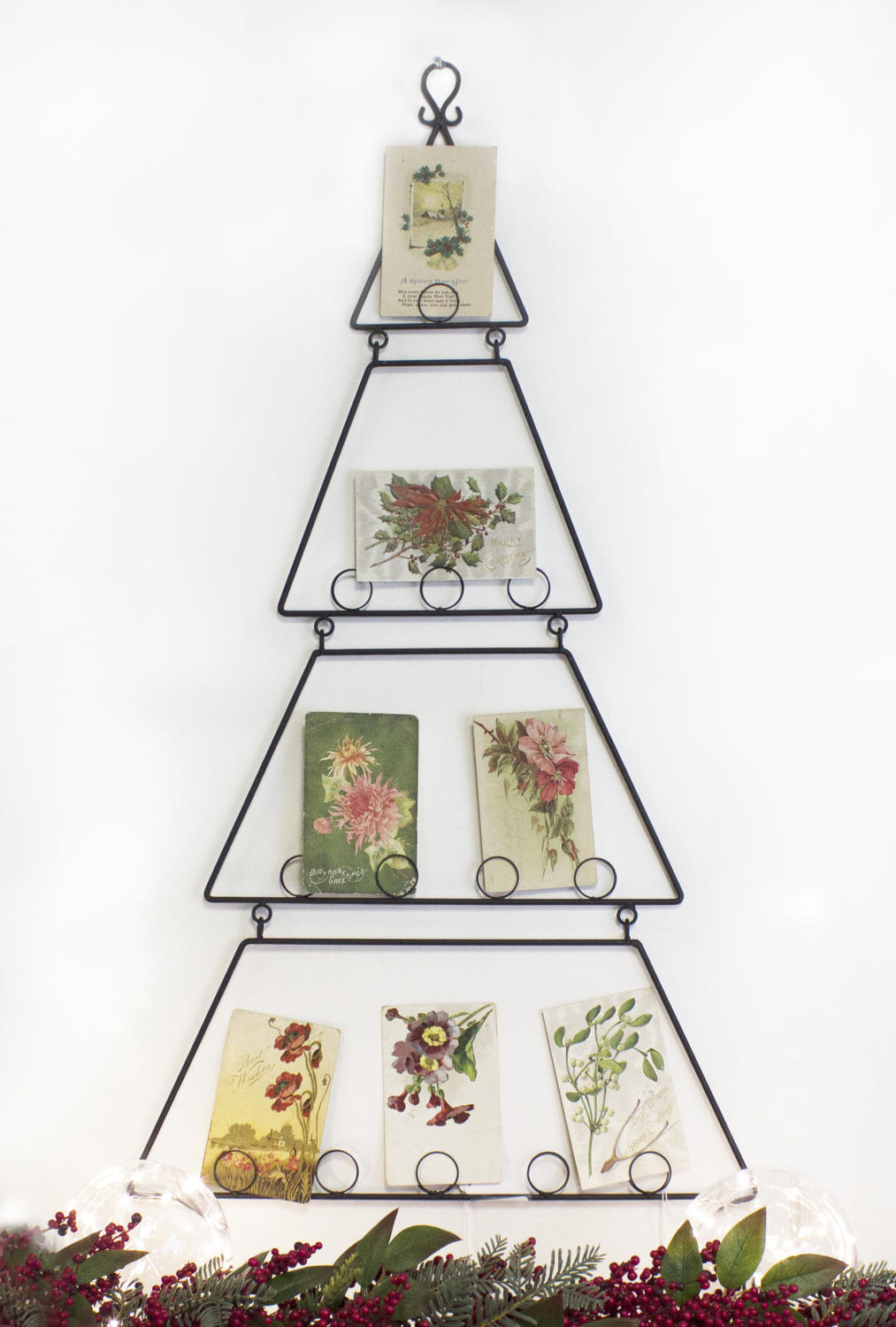 wall hanging card photo holder metal tree - Christmas Card Tree Holder