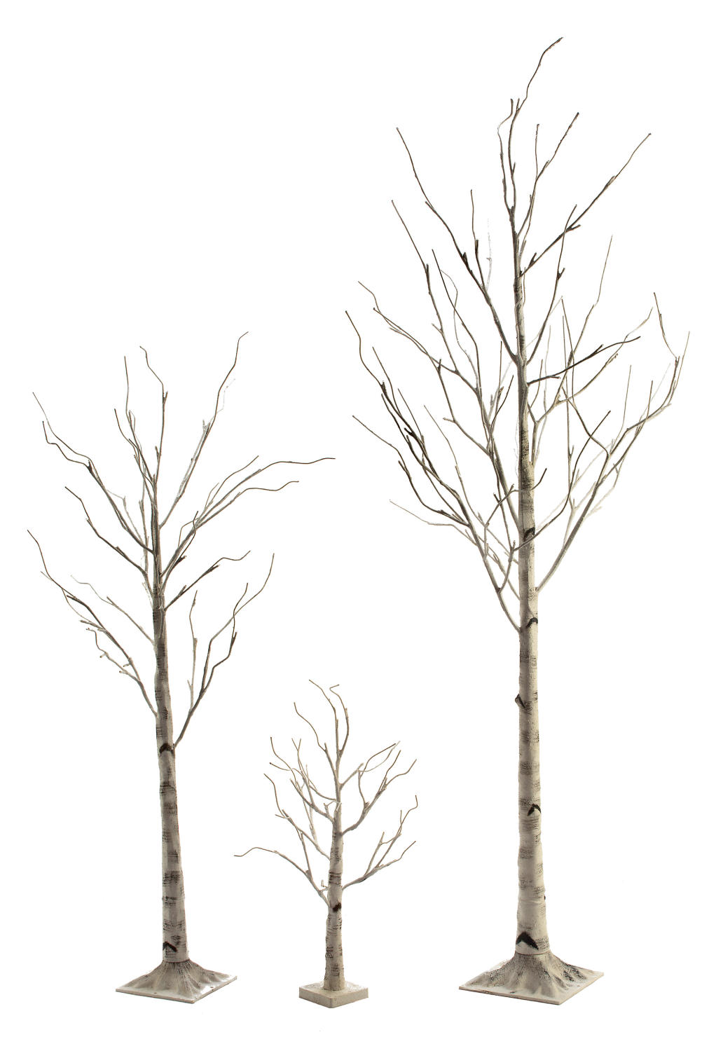 White Birch LED Lighted Trees & Snowflake    (Home Accents)