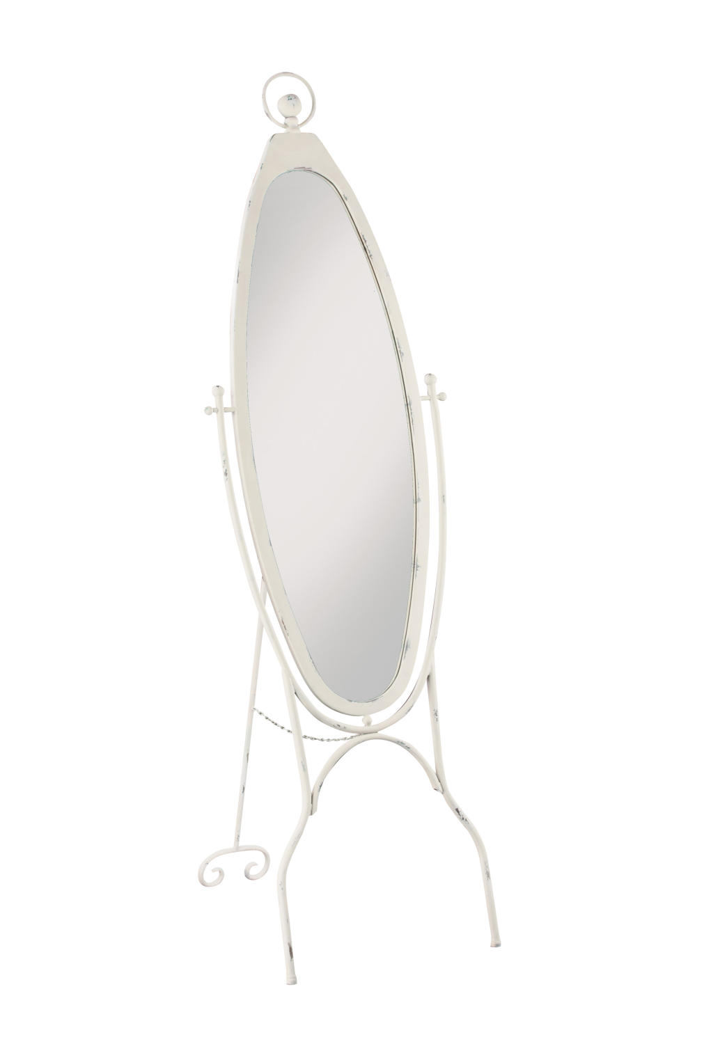 White Oval Floor Mirror  (Home Accents)