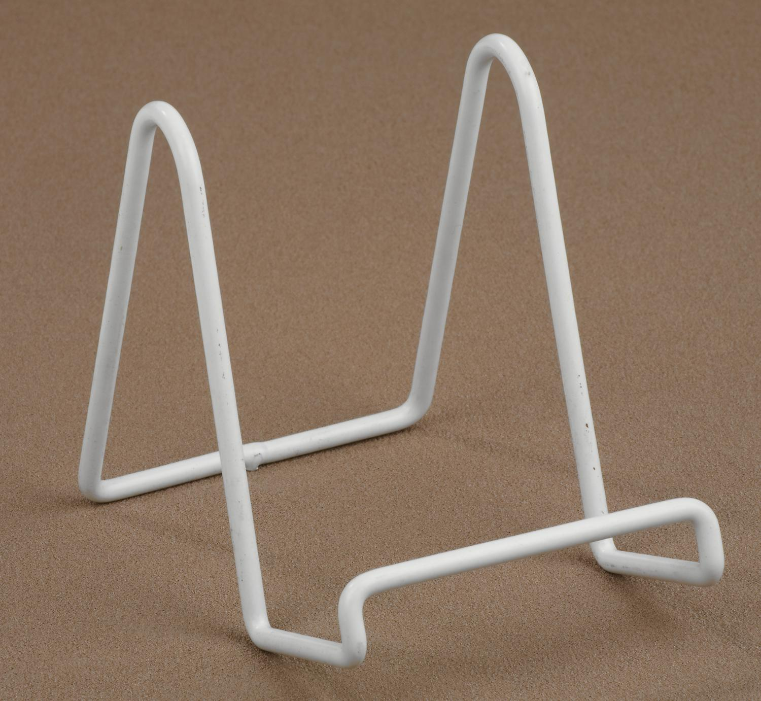 White Vinyl Wire Stand  (Plate Stands (Single))