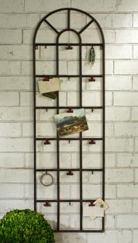 Window Display Arch (Classically appealing this metal wall arch adds unique character to any space.This distressed metal arch includes 9 hooks and 9 clips to make displaying any accessory or item both effortlessly easy and  refined.)
