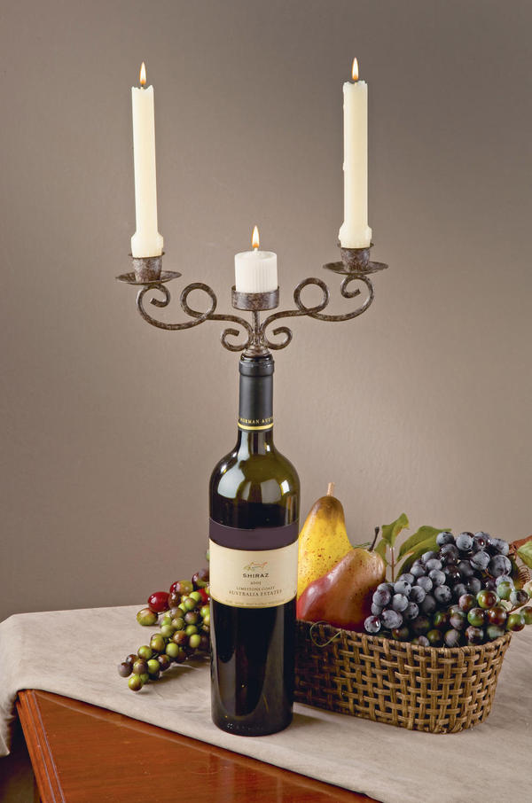 Wine accessories by tripar international inc for Champagne bottle candle holders
