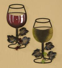 Wine Glass Wall Art (Wine Accessories)