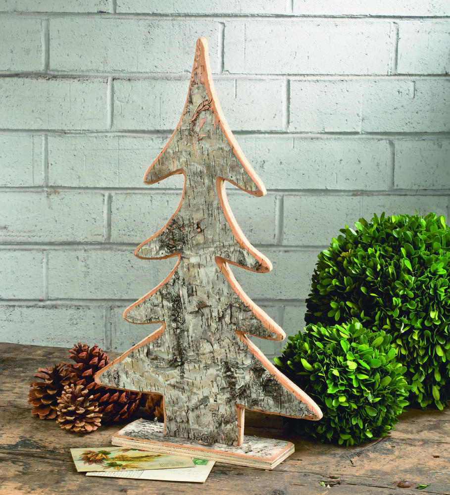 Wood christmas tree cutout - Wooden Birch Tree Cutout Home Accents