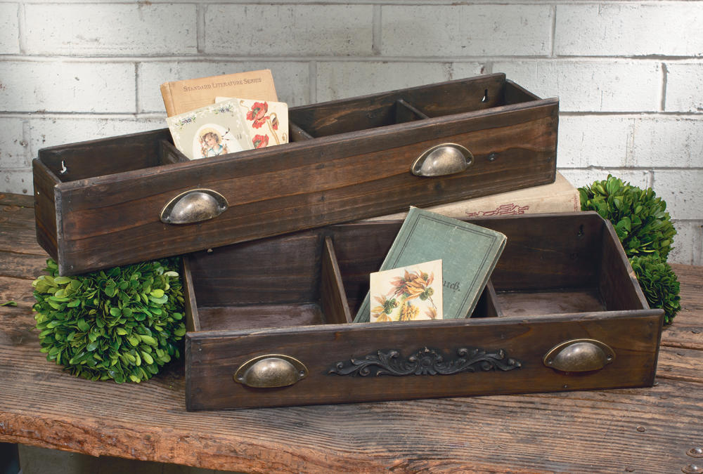 Wooden Drawer Shelf