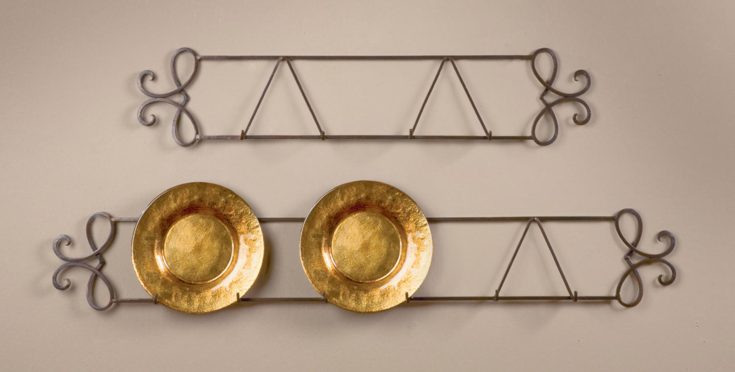 Wrought Iron Plate Racks For Walls Cosmecol