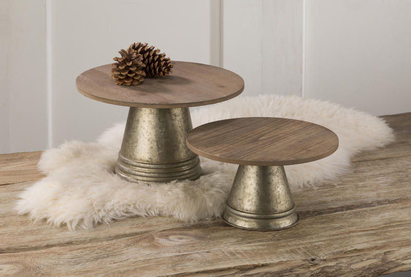 Industrial Glam - Platforms with Wood Top