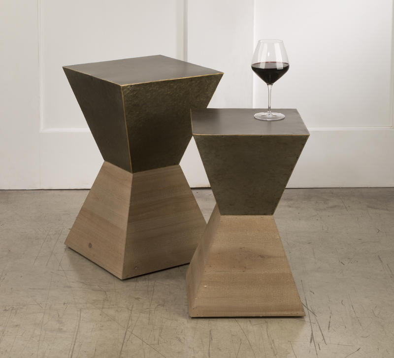 Metal Hourglass Side Tables