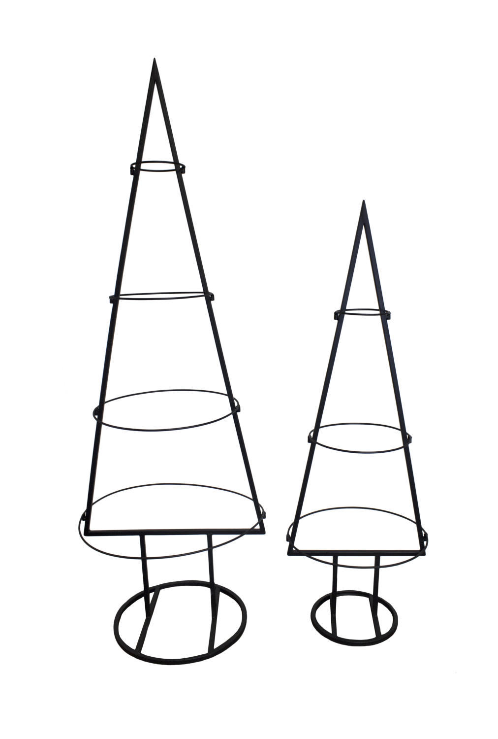Metal Tabletop Ornament Tree, Set of 2