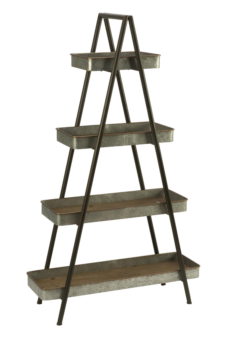Four Shelf Ladder Display