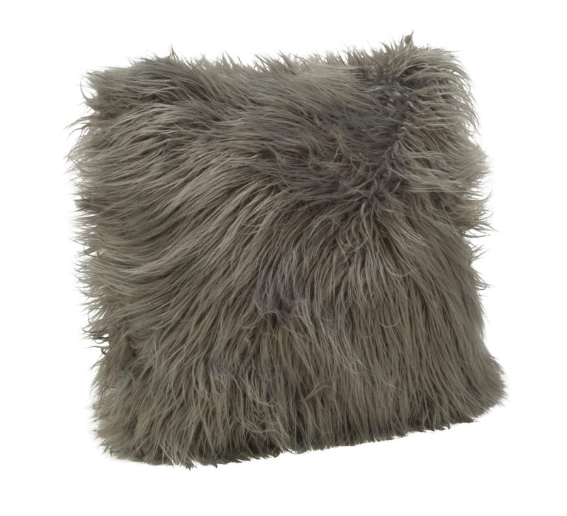 Faux Fur Pillow Cover - Gray