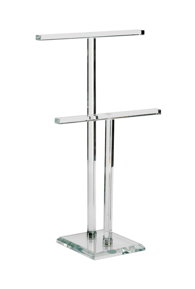Glass T-Bar Jewelry Stands
