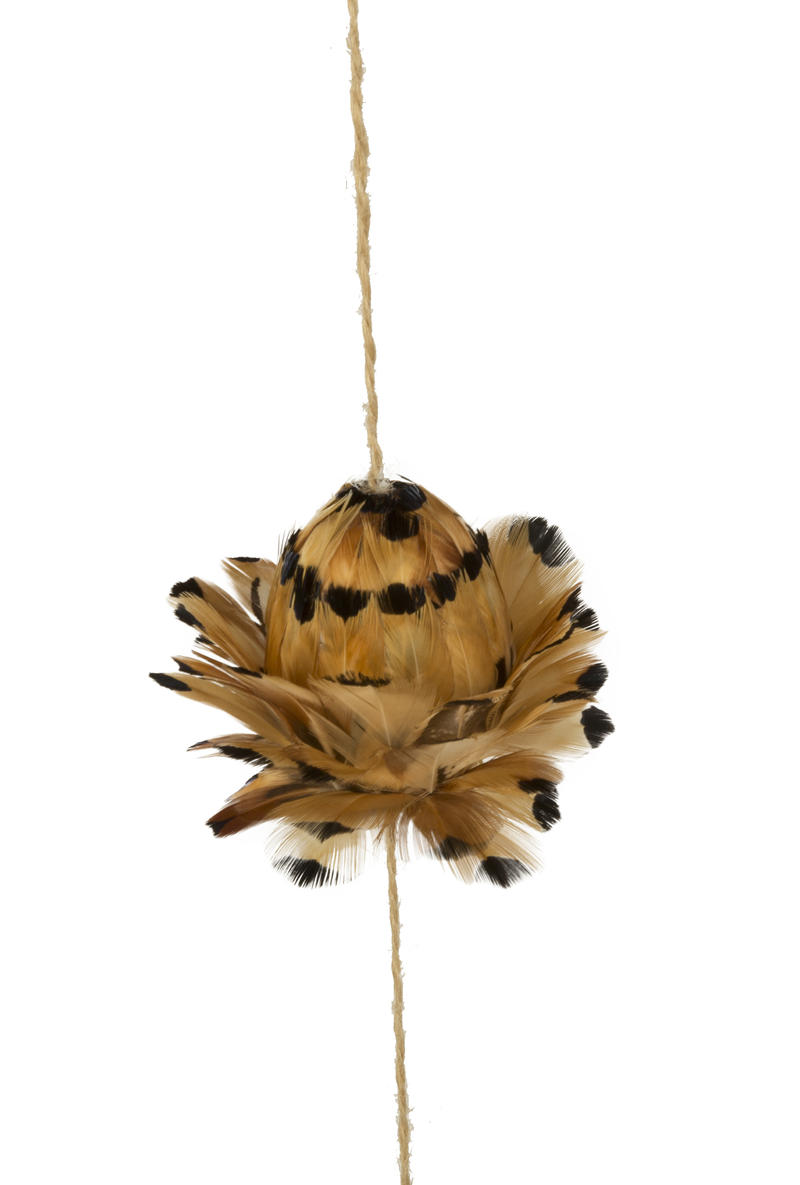 Black Tip Pheasant Feather String Decor