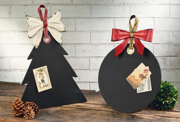 Magnetic Holiday Chalkboards