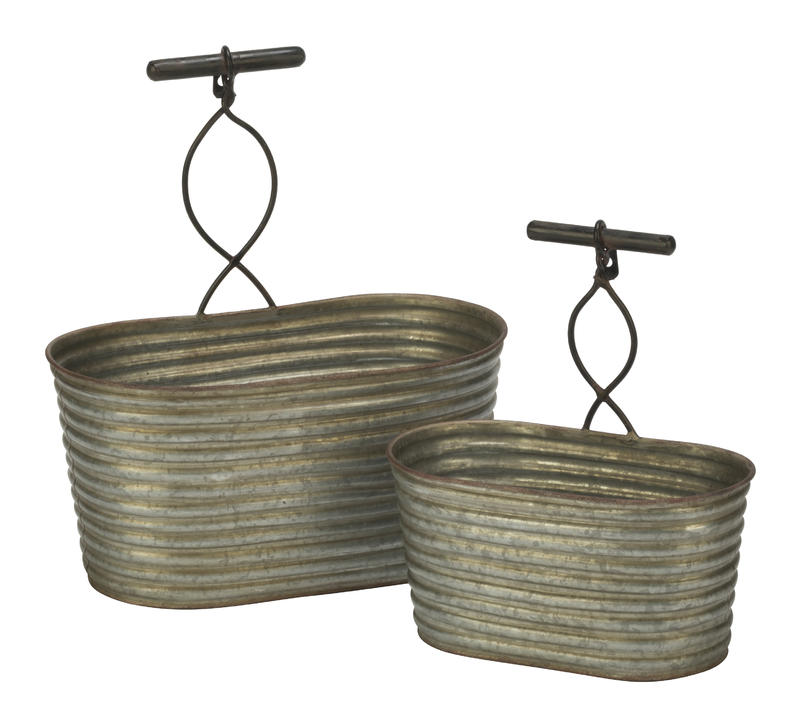 Corrugated Metal Bins - Wall Hanging or Tabletop!