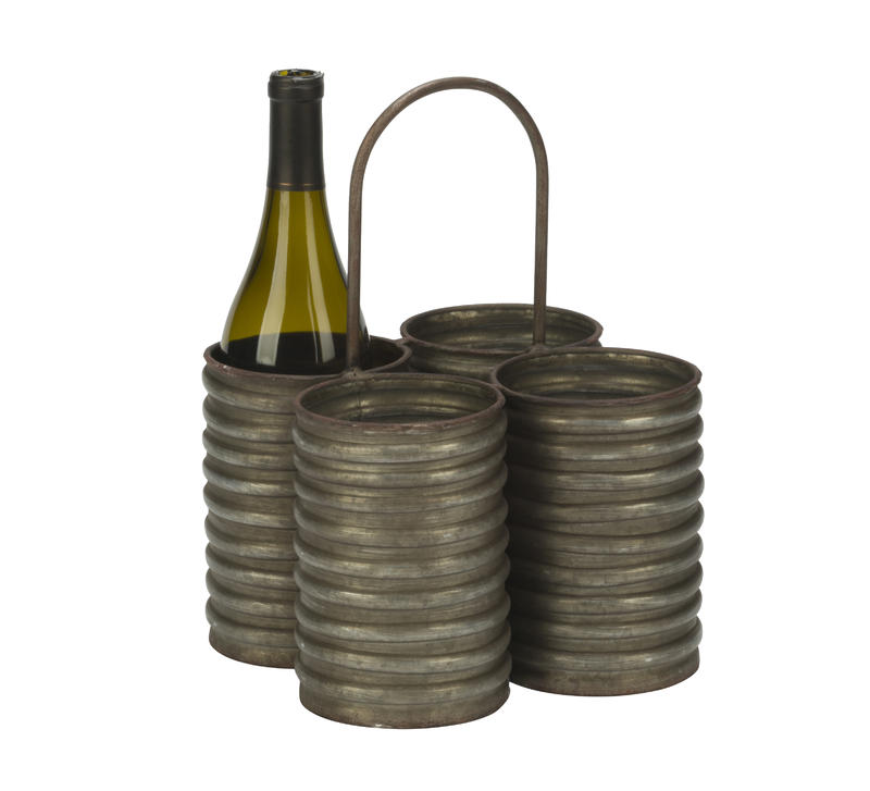 Decorative Four Tin Organizing Caddy