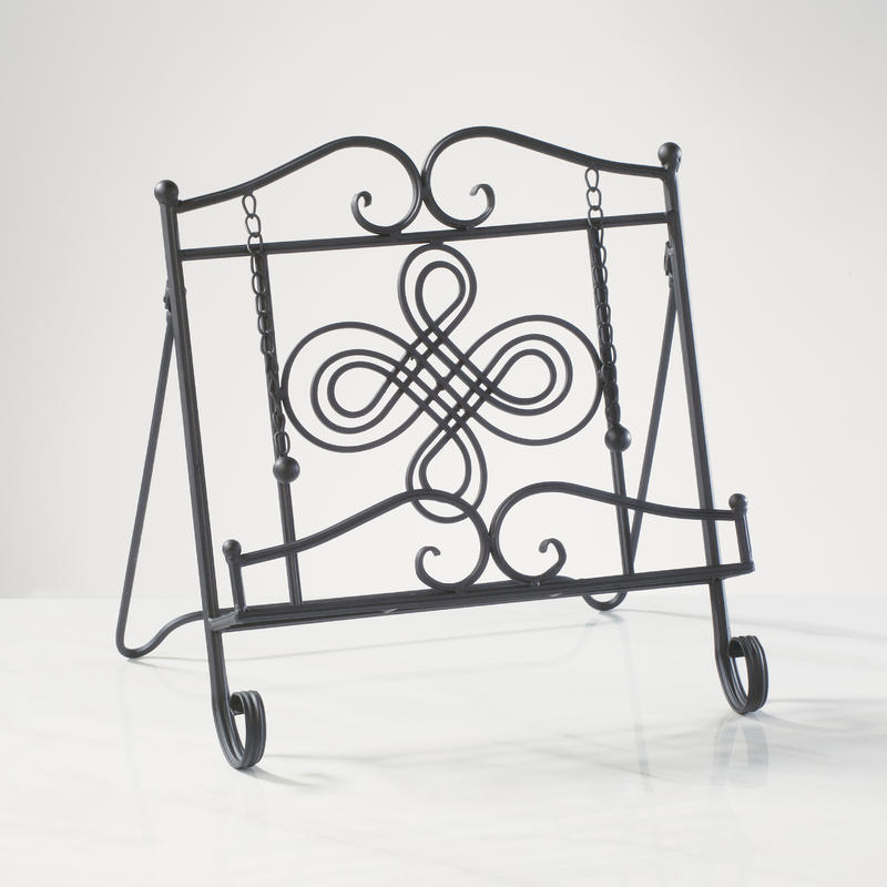 Swirl Metal Cookbook Stands