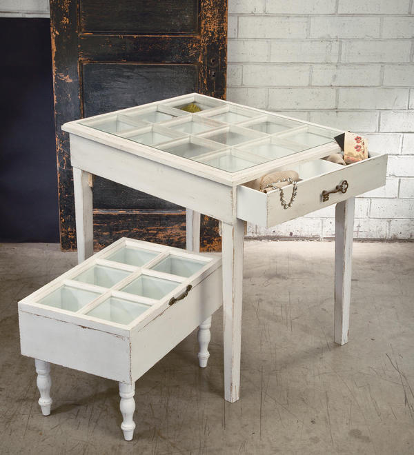 Glass Window Pane Display Tables