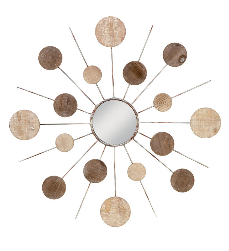 Wood Sunburst Wall Decor
