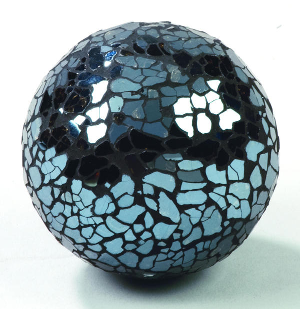Dark Blue Mosaic Glass Balls