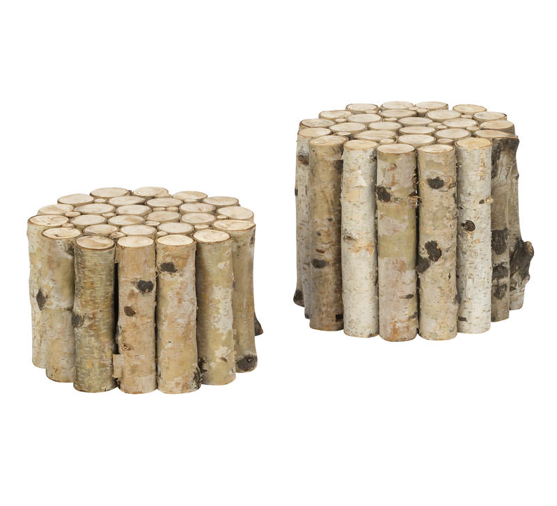 Natural Birch Riser, Set of 2