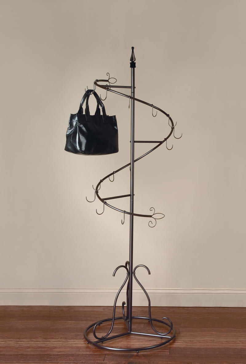 Brown Classic Spiral Purse Tree