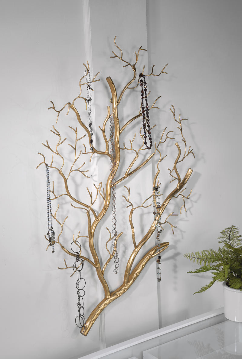Gold Branch Wall Decor - Metal