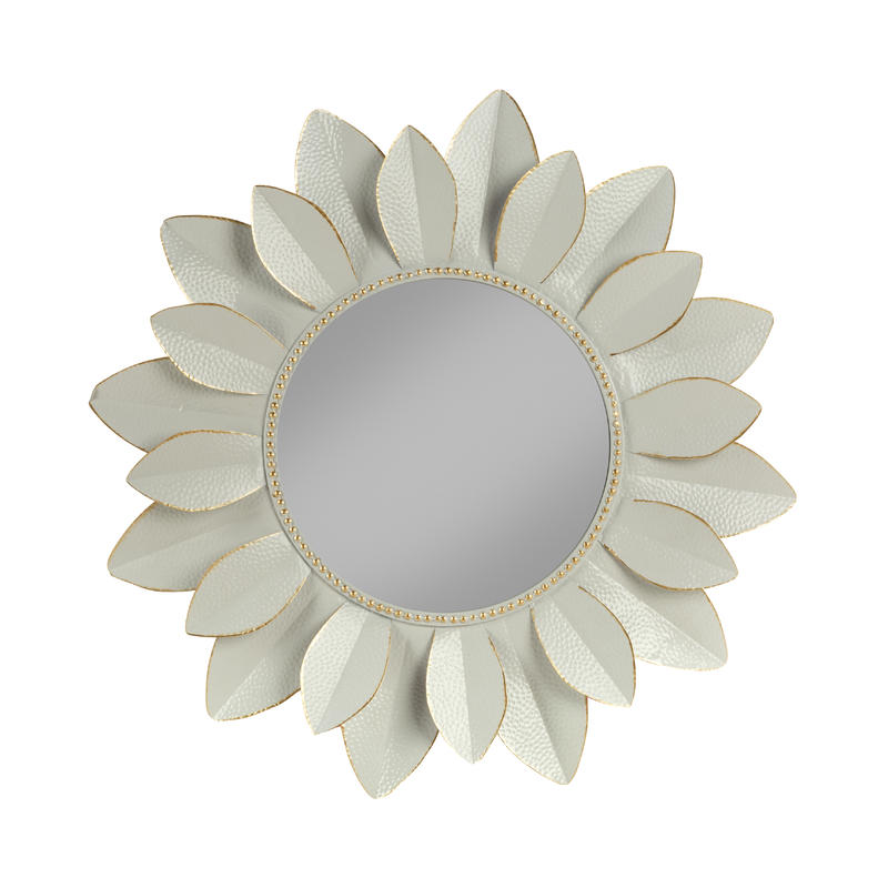 Decorative Wall Mirror White / Gold
