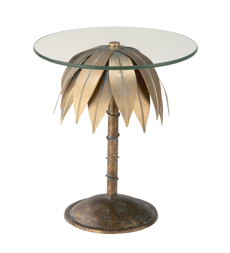 Large Palm Pedestal Stand