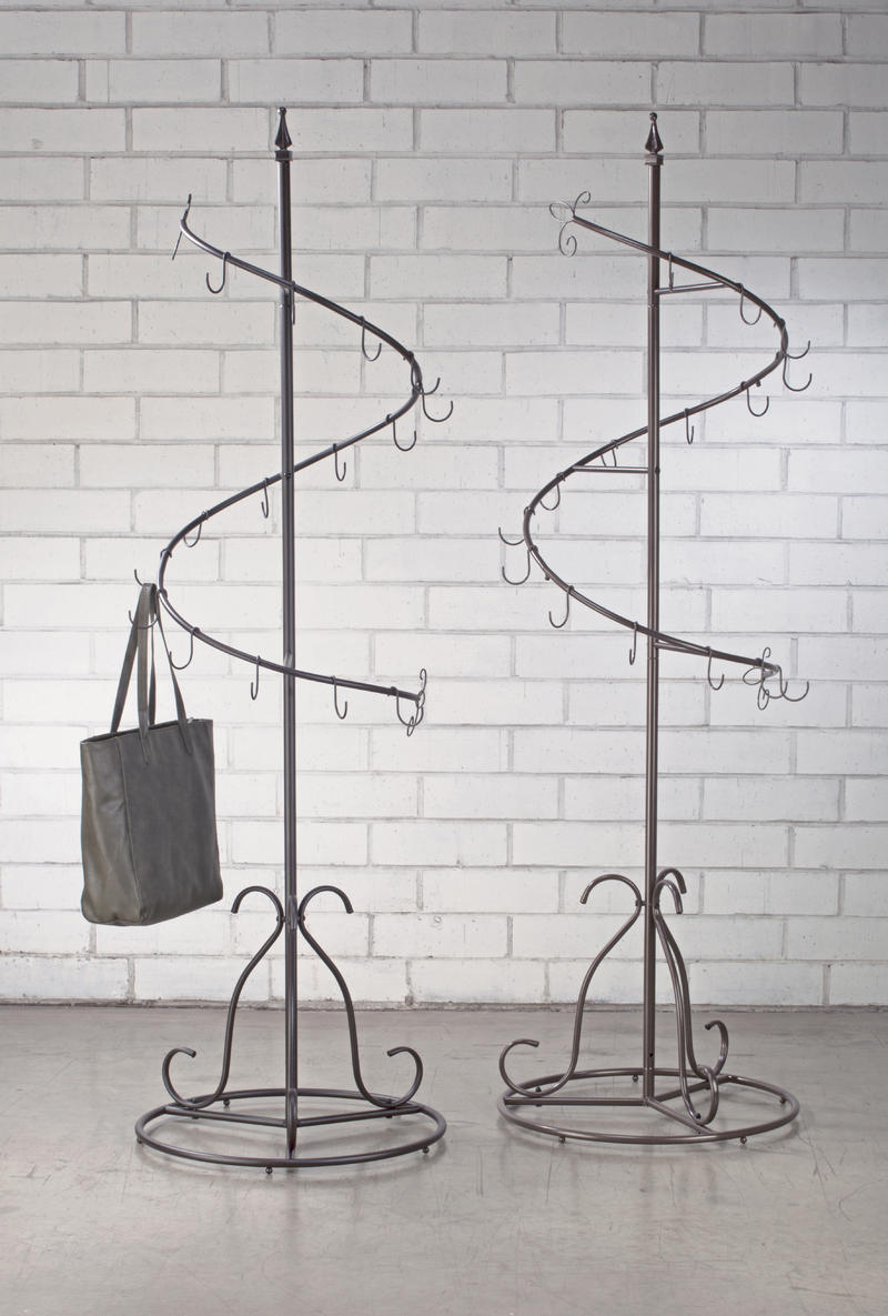 Metal Classic Spiral Purse Tree