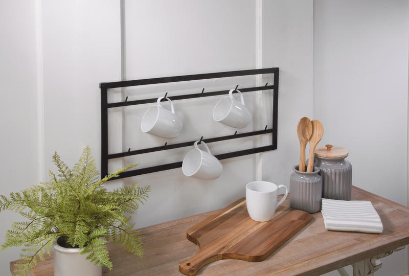 10 Arm Mug Wall Rack