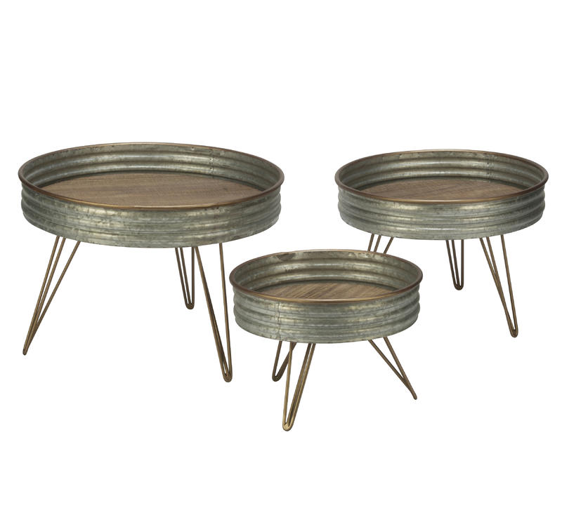 Tiered Sized - Industrial Round Metal Riser