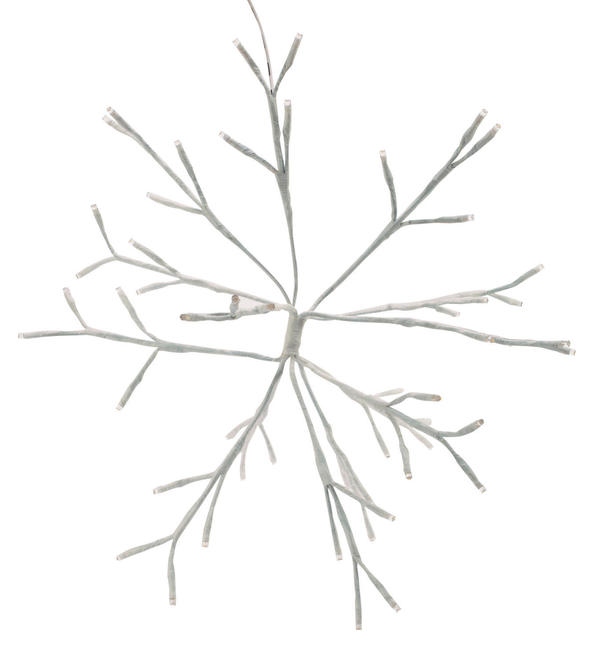 White Birch LED Lighted Snowflake