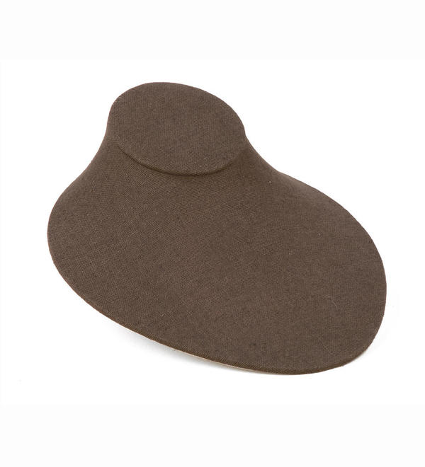 Flat Chocolate Linen Neck Form