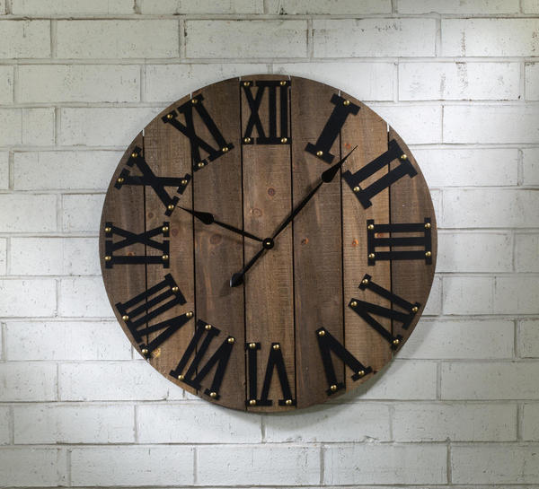 Functional Wooden Wall Clock