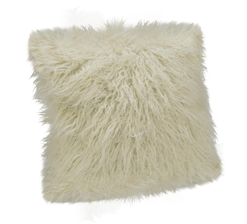 Faux Fur Pillow Cover - Cream