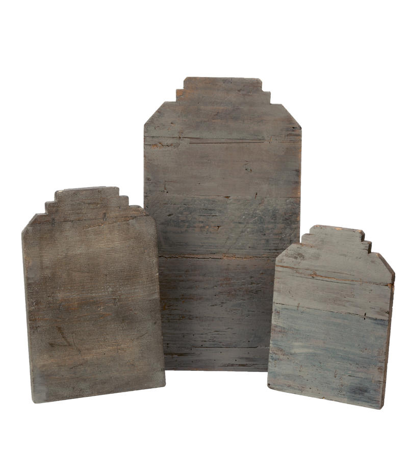Grey Wood Necklace Stands