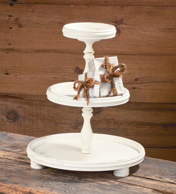 Three Tier Wooden Display Stand